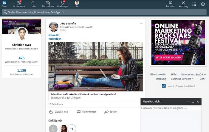 Linkedin - LinkedIn stellt überarbeiteten Desktop vor