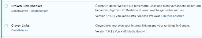 CleverLinks aktiviert - Interne Verlinkung stärken